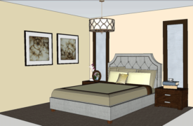 Bedroom Sketchup Color